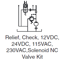 Relief and Check & Solenoid NC
